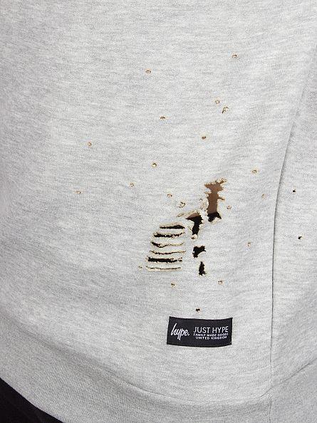 Hype Grey Ripped Body Sweatshirt