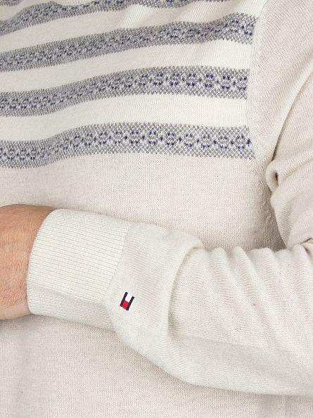 Tommy Hilfiger Birch Heather/Multi Roderick Striped Knit