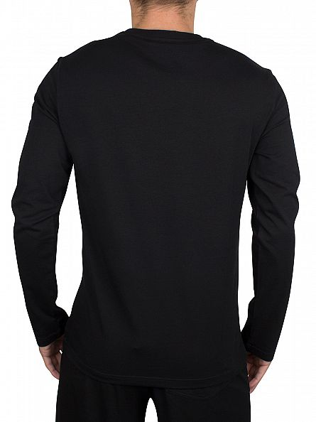 Emporio Armani Black Longsleeved Chest Logo T-Shirt