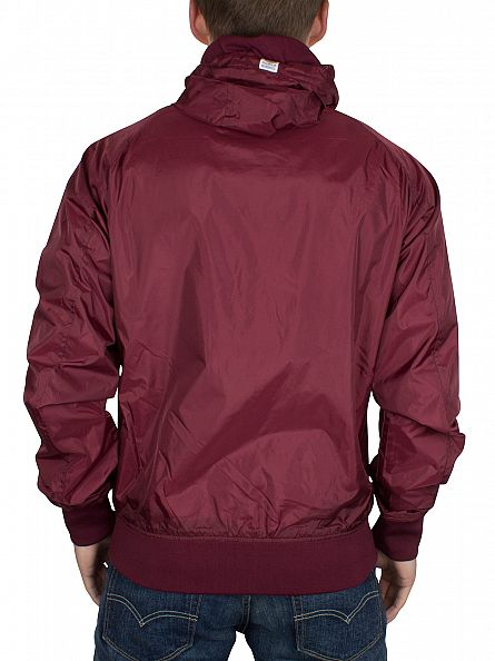 Franklin & Marshall Bordeaux Left Chest Logo Hooded Jacket