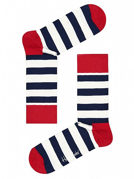 Happy Socks Multi 4 Pack Pattern Socks Gift Box
