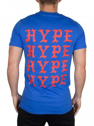Hype Blue/Red Feel Like Hype Logo T-Shirt