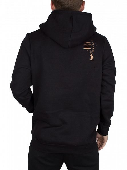 Hype Black Ripped Body Hoodie