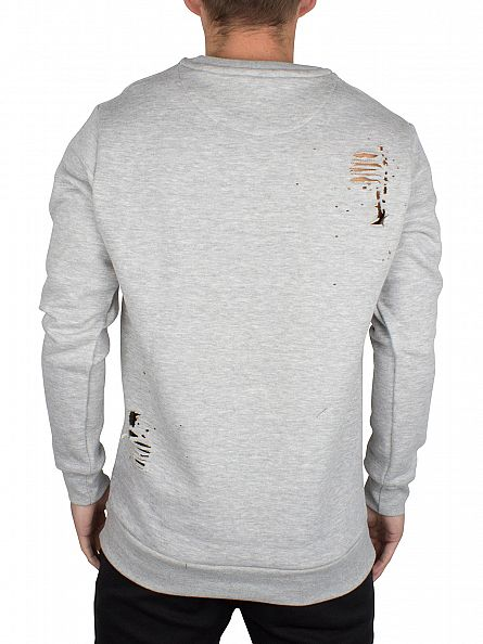 Hype Grey Ripped Body Sweatshirt