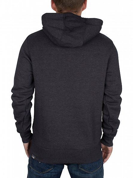 The North Face Dark Grey Heather Drew Peak Graphic Hoodie