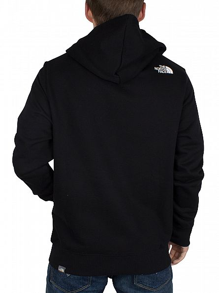 The North Face Black/White Open Gate Full Zip Logo Hoodie
