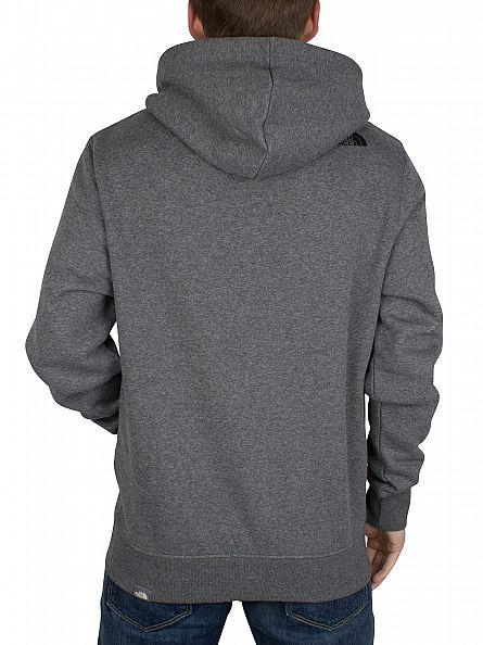 The North Face Mid Grey Heather Open Gate Full Zip Logo Hoodie