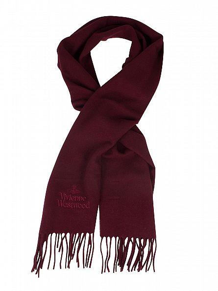 Vivienne Westwood Red Wool Logo Scarf
