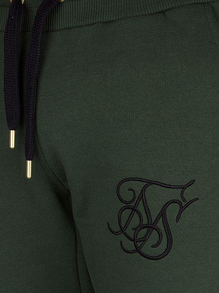 Sik Silk Forest Green Standard Logo Joggers