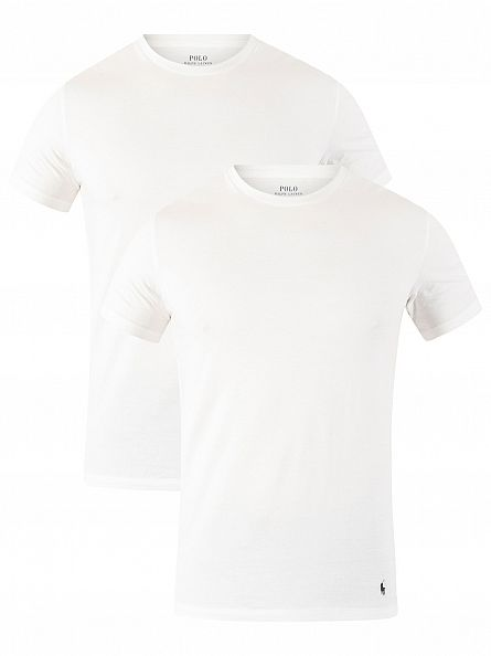 Polo Ralph Lauren White 2 Pack Crew-Neck T-Shirts