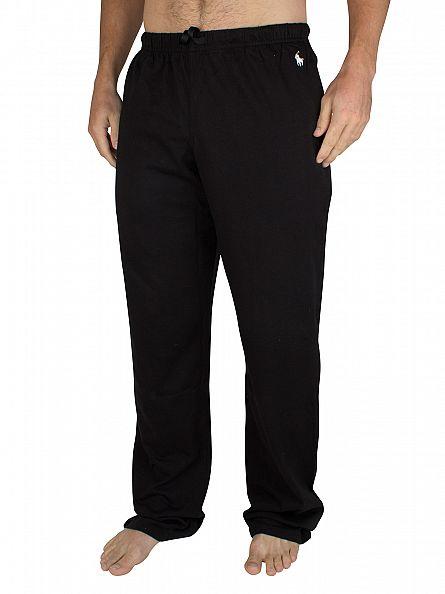 Polo Ralph Lauren Black Jersey Logo Pyjama Bottoms