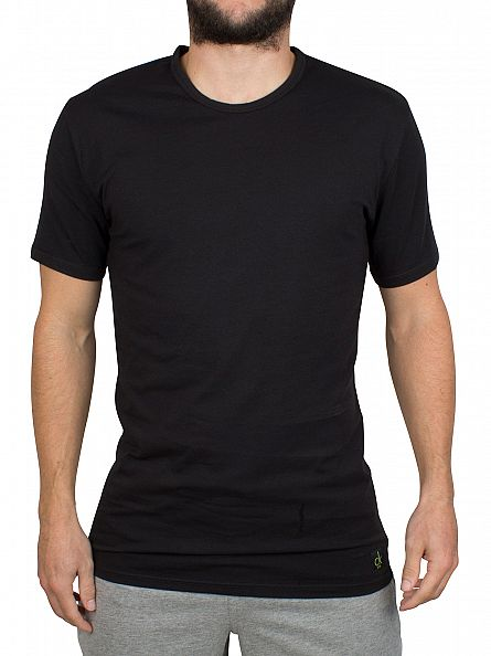 Calvin Klein Black 2 Pack Crew Neck T-Shirts