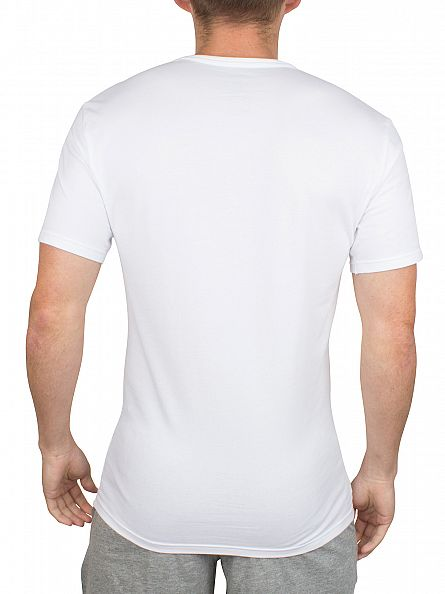 Calvin Klein White 2 Pack V-Neck T-Shirts