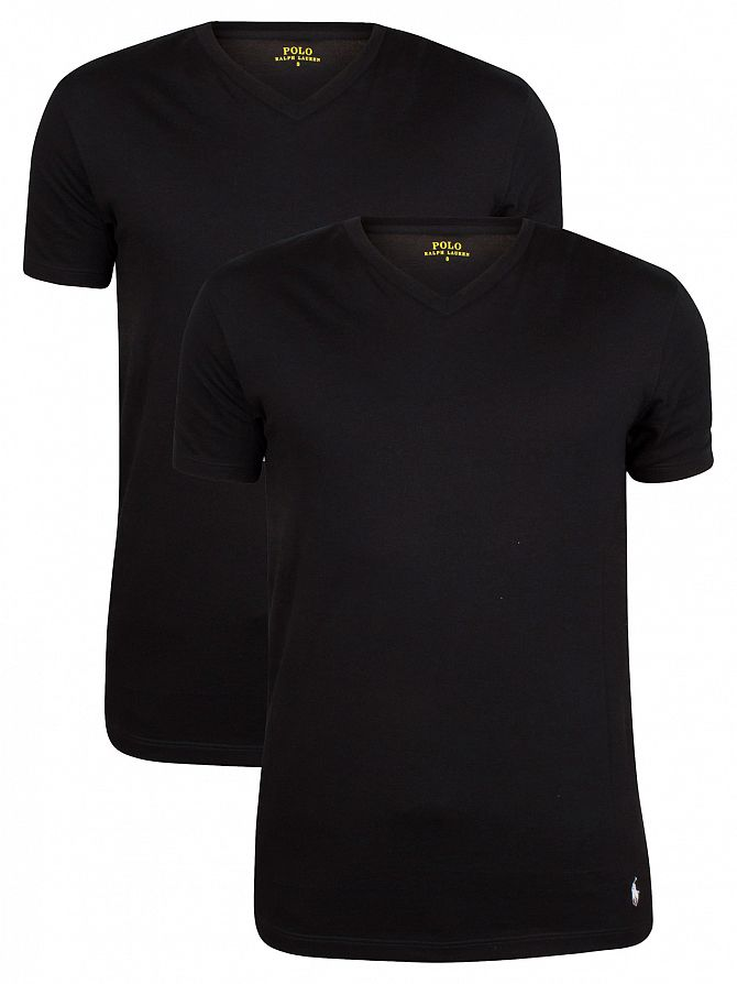 Polo Ralph Lauren Black 2 Pack V T-Shirts