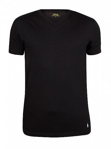 Polo Ralph Lauren Black 2 Pack V T-Shirts