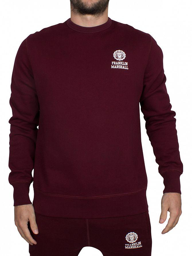 Franklin & Marshall Bordeaux Left Chest Logo Sweatshirt