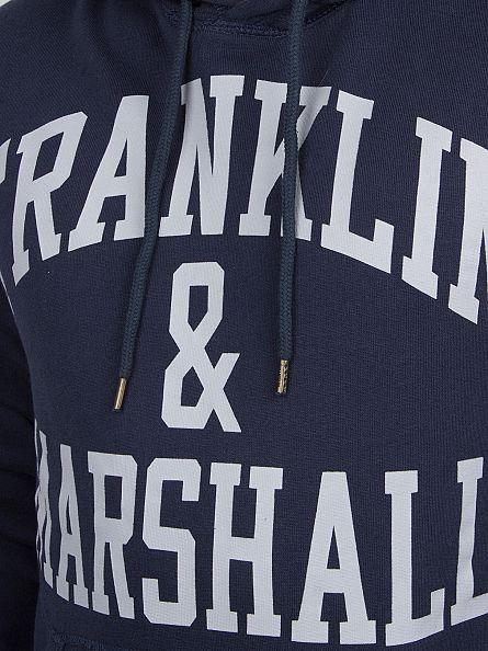 Franklin & Marshall Navy Arch Logo Hoodie
