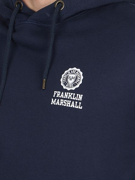 Franklin & Marshall Navy Left Chest Logo Hoodie