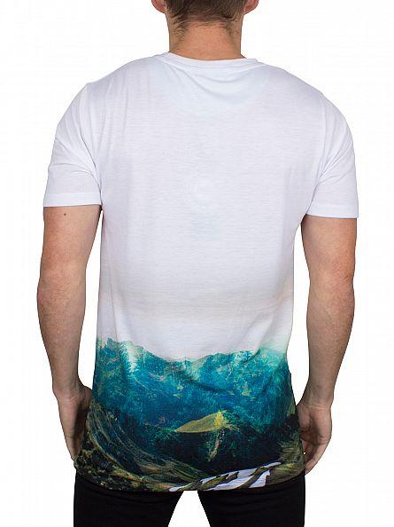 Hype White Mountain Life Fade Logo T-Shirt