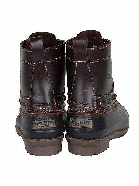 Sperry Top-Sider Amaretto/Black Decoy Logo Leather Boots