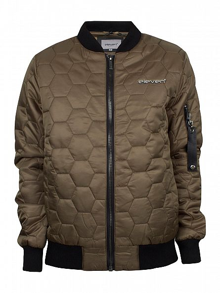 11 Degrees Khaki Blizzard Bomber Jacket