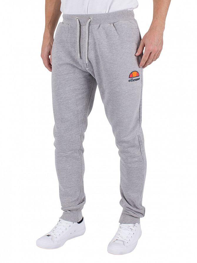 Ellesse Ath Grey Marl Ovest Fleece Logo Joggers