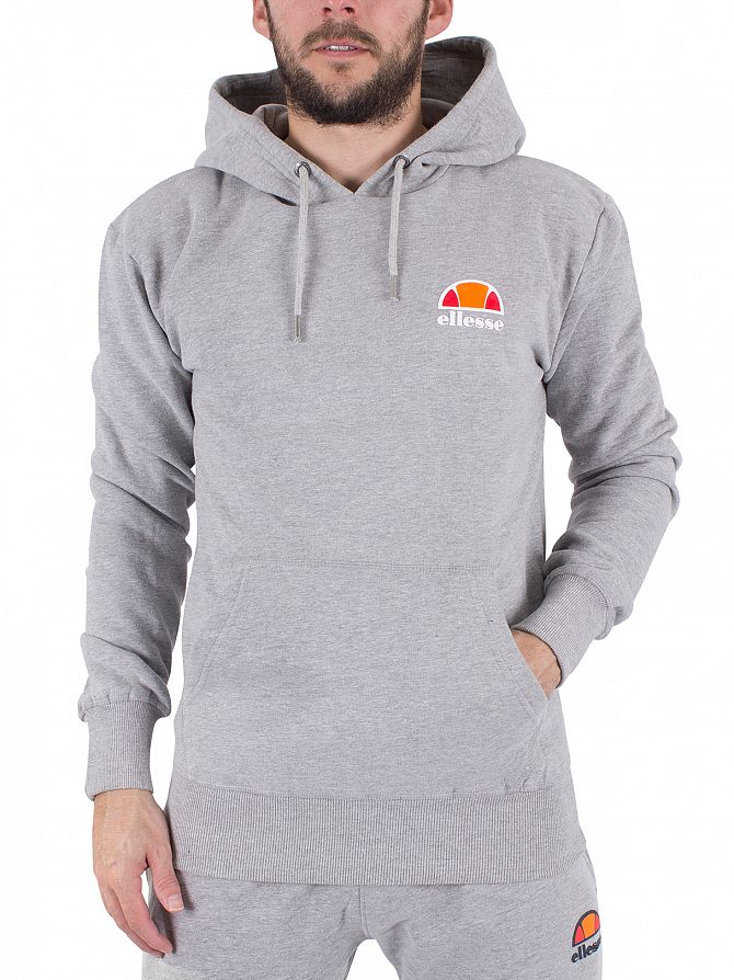 Ellesse Athletic Grey Marl Toce Over Head Logo Hoodie