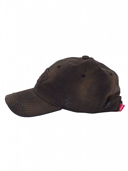 Sik Silk Black Starter Bent Peak Distressed Worn Cap