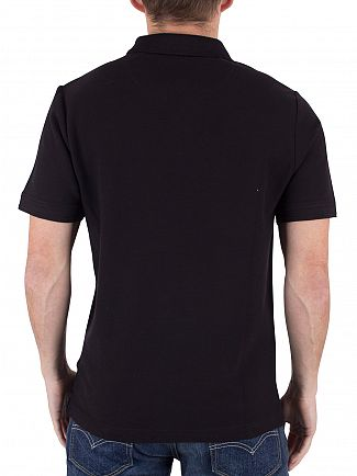 Original Penguin True Black Slim Fit Heritage Logo Polo Shirt