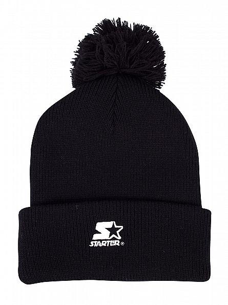 Sik Silk Black Tonal Logo Bobble Hat