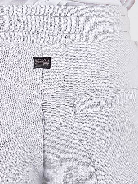G-Star White 5621 3D Tapered Fit Panel Joggers
