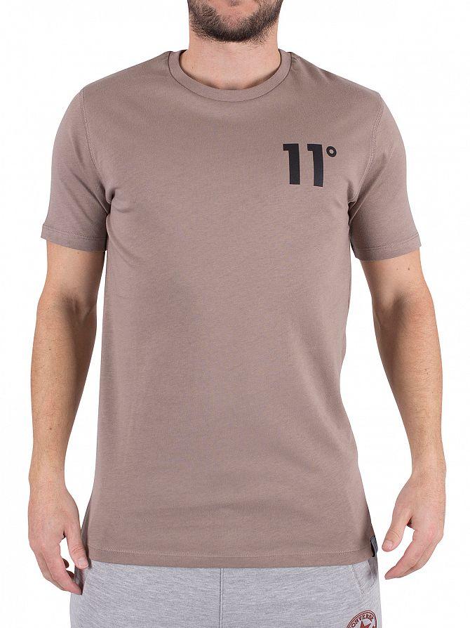 11 Degrees Mastik Curved Hem Core Logo T-Shirt