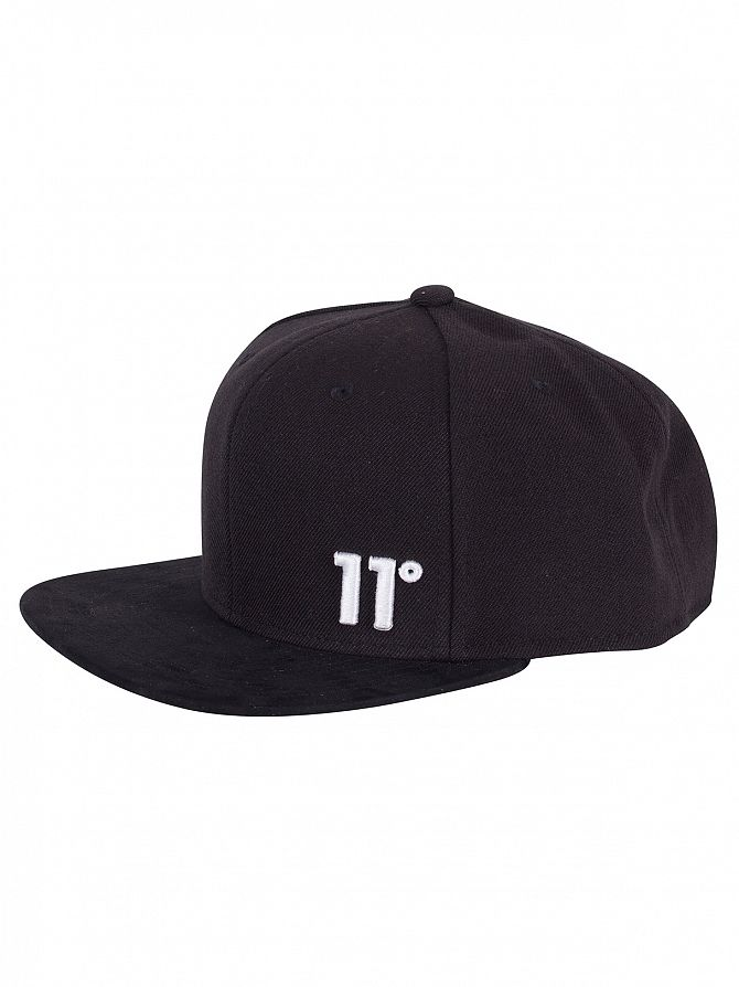 11 Degrees Black/White Logo Snapback