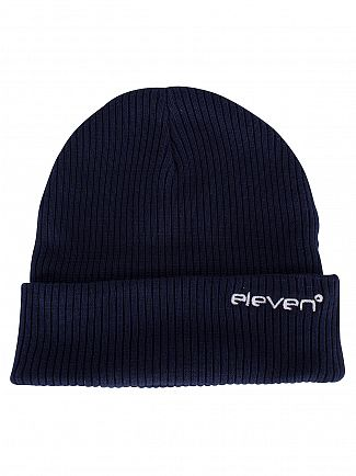 11 Degrees Ribbed Logo Knit Beanie