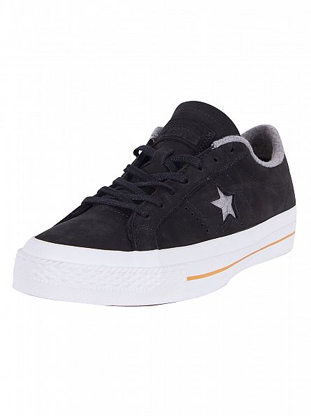 Converse Black/Ash Grey/Gum One Star Nubuck Ox Trainers