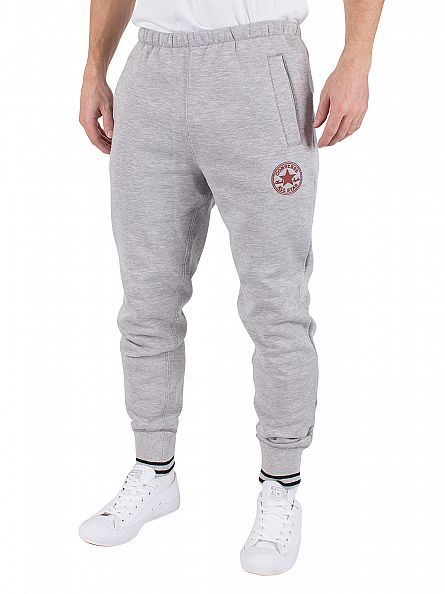 Converse Vintage Grey Heather Tipped Marled Logo Joggers