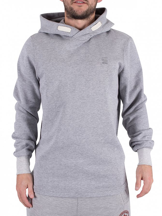 G-Star Grey Heather Calow Marled Logo Hoodie