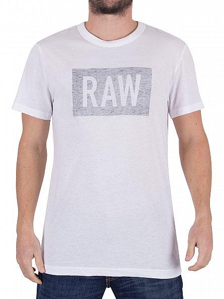 G-Star White/Black Crostan Faint Graphic T-Shirt