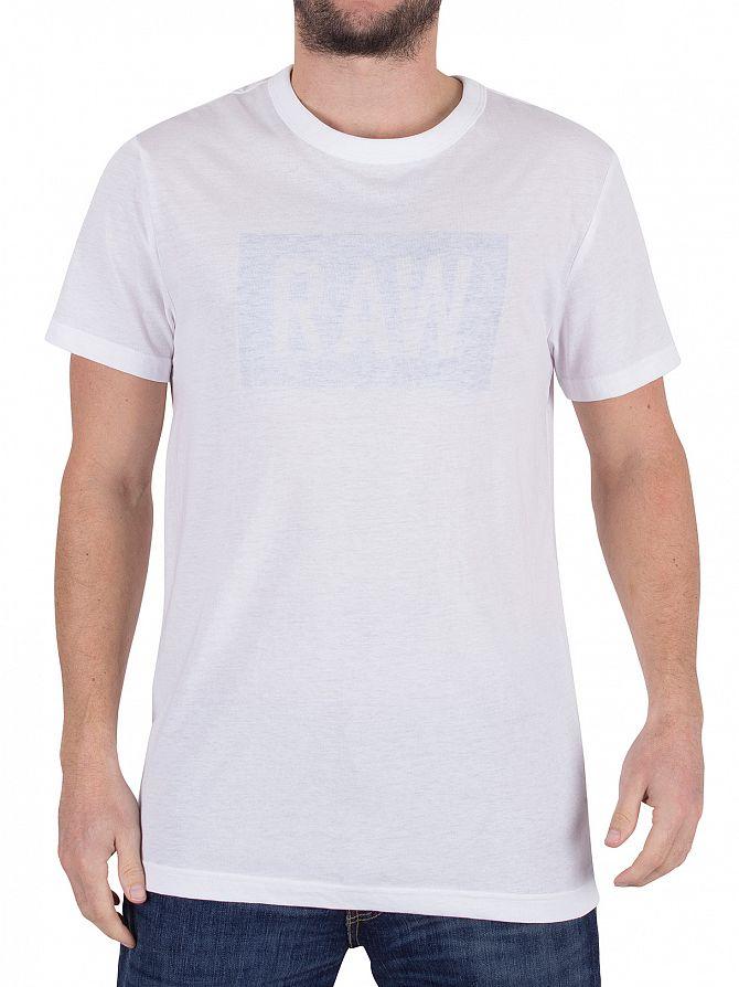 G-Star White/Lt Wave Crostan Faint Graphic T-Shirt