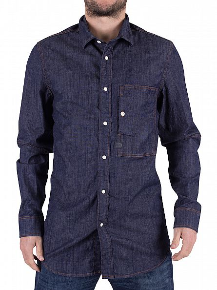 G-Star Rinsed Stalt Denim Straight Fit Shirt