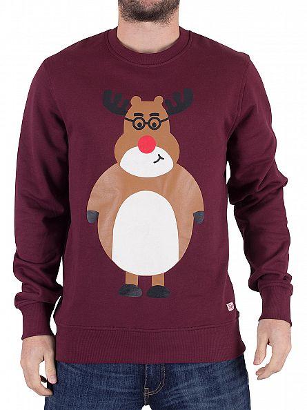 Jack & Jones Port Royale Merry Reindeer Sweatshirt
