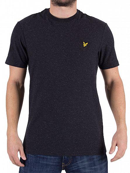 Lyle & Scott True Black Brushed Flecked Logo T-Shirt