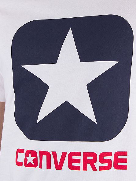 Converse White Core Boxstar Graphic T-Shirt