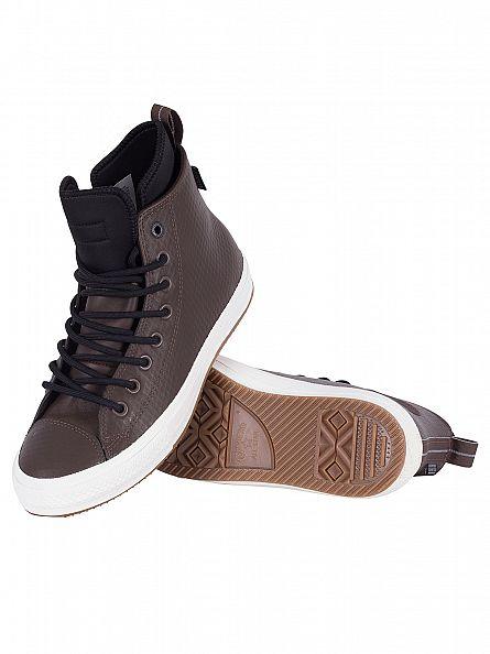 Converse Dark Chocolate/Black/Egret Chuck Taylor All Star II Boot Hi Trainers
