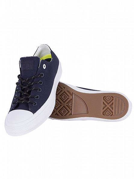 Converse Obsidian/White/Gum Chuck Taylor All Star II Ox Trainers
