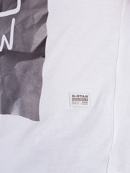 G-Star White Drakham Graphic T-Shirt