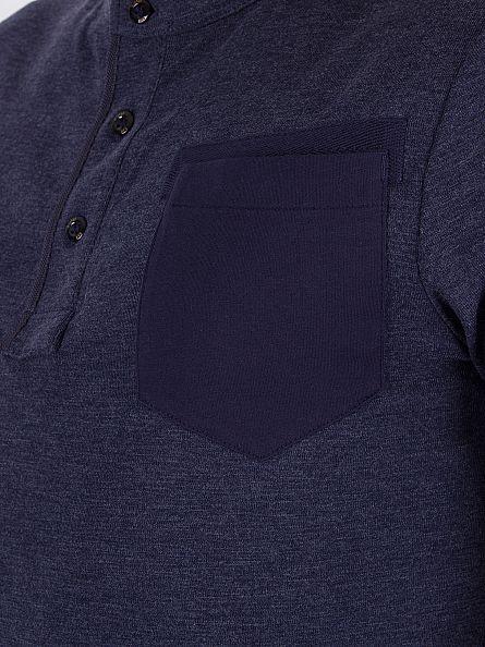 G-Star Sartho Blue Slim Fit Longsleeved Granddad Pocket T-Shirt