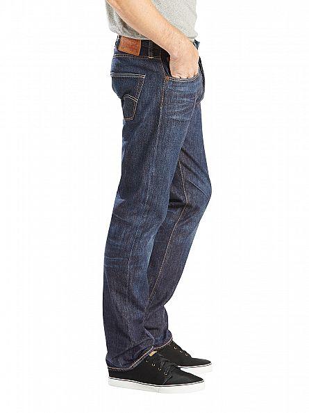 Levi's Mid Blue 501 Original Fit Felton Jeans