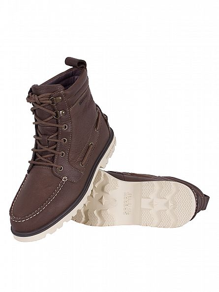 Sperry Top-Sider Dark Brown Authentic One Eye Lug Boots