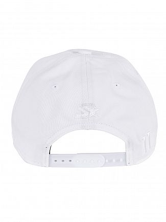 11 Degrees White Script Pitcher Logo Cap